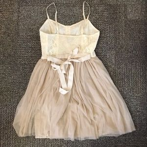 American Eagle white/beige lace mini dress